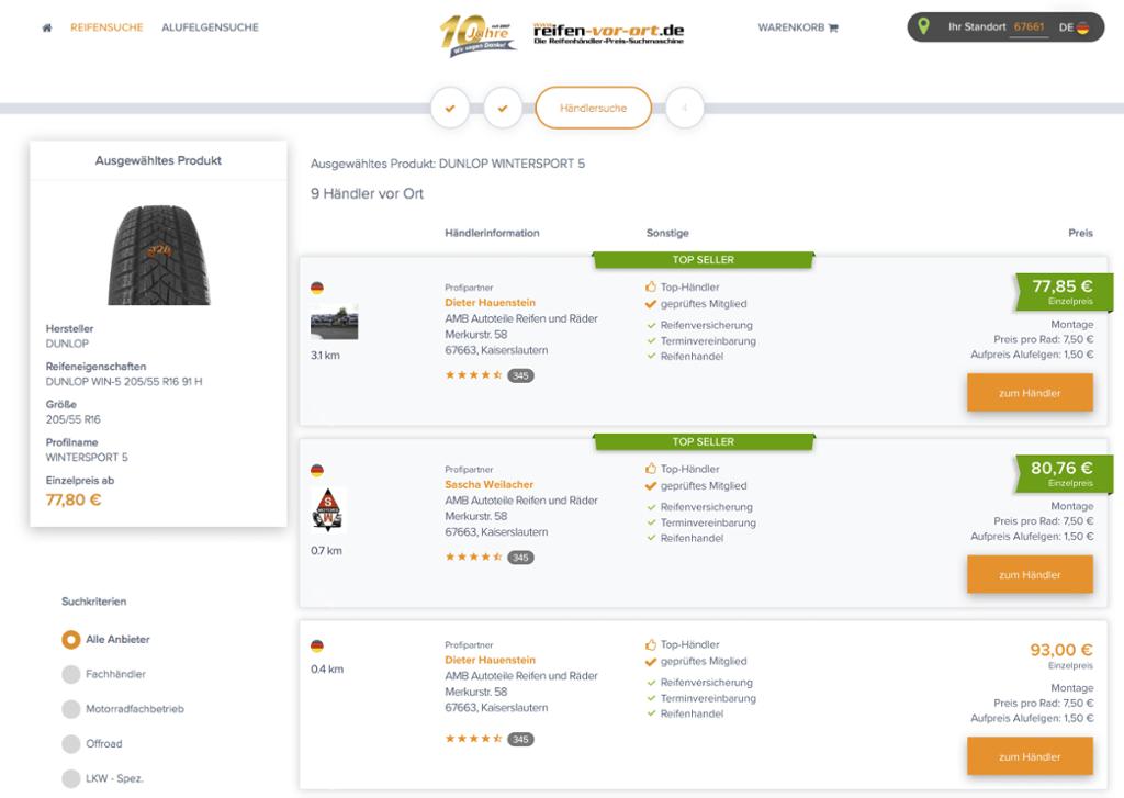 Reifen-vor-Ort Top Seller Label